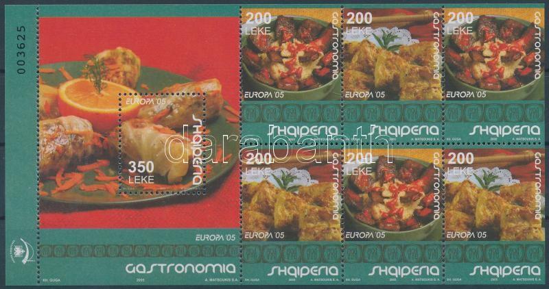 Europa CEPT, Gastronomy stampbooklet sheet, Europa CEPT, Gasztronómia bélyegfüzet lap