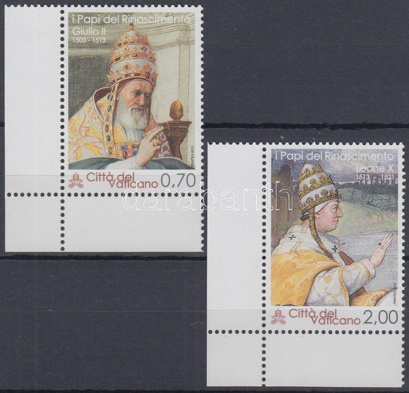 Giulio II. and Pope Leo X corner set, II. Gyula és X. Leó pápa ívsarki sor
