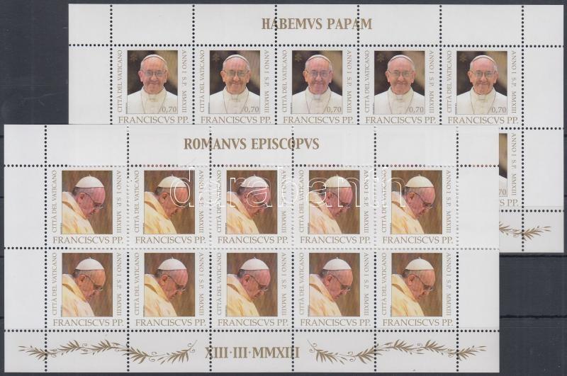 Pope Francis' inauguration mini sheet set, Ferenc pápa beiktatása kisív sor