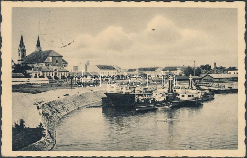 Komárno, river, port, steamship, Komárom, kikötő, gőzhajó