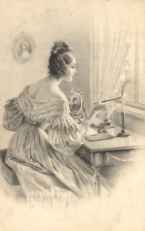 Lady with candle, M. Munk Nr. 467., Hölgy gyertyával, M. Munk Nr. 467.