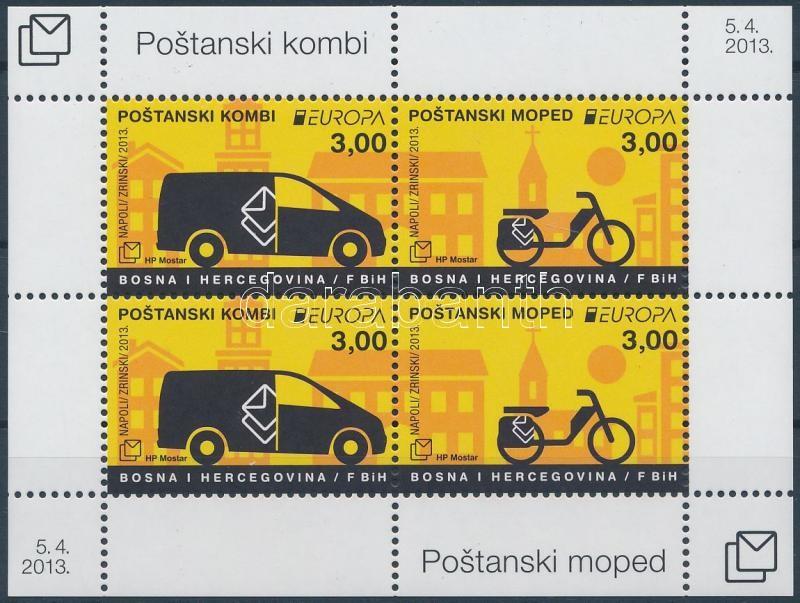 Europa CEPT Postai járművek blokk, Europa CEPT Postal vehicles block