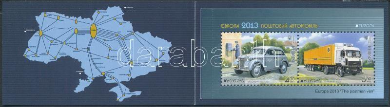 Europa CEPT Postal vehicles stamp-booklet, Europa CEPT Postai járművek bélyegfüzet