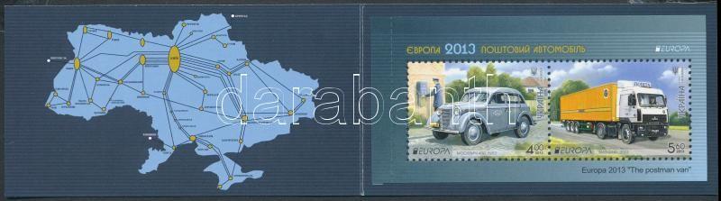 Europa CEPT Postal vehicles stampbooklet, Europa CEPT Postai járművek bélyegfüzet