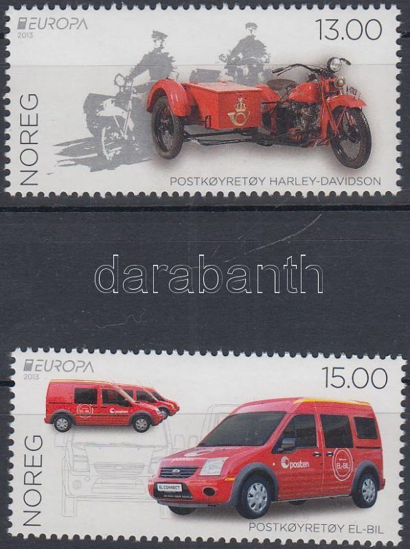 Europa CEPT Postal vehicles set, Europa CEPT Postai járművek sor