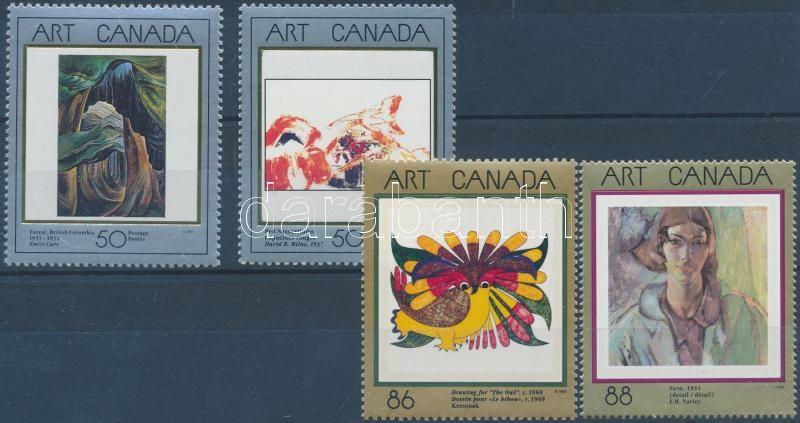 1991-1994 Masterpieces of Canadian art 4 stamps, 1991-1994 A kanadai művészet mesterművei 4 klf bélyeg