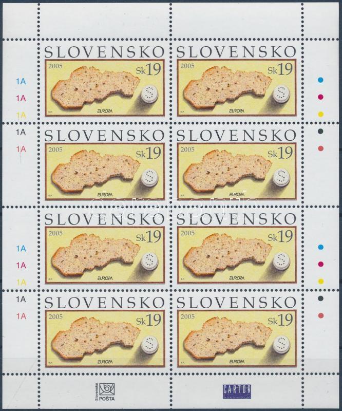 Europa CEPT Gastronomy mini sheet, Europa CEPT gasztronómia kisív