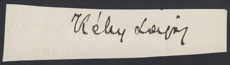 Kéky Lajos (1879-1946) irodalom- és színháztörténész aláírása
