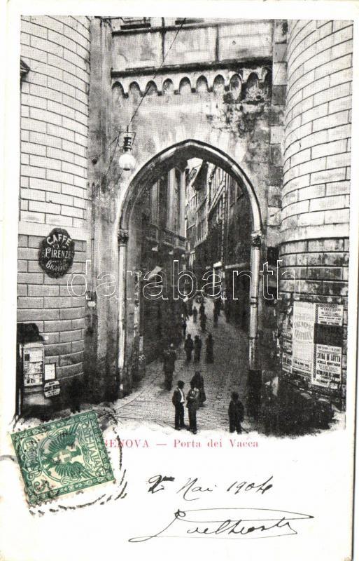 Genova, Porta dei Vacca, Cafe Firenze / gate