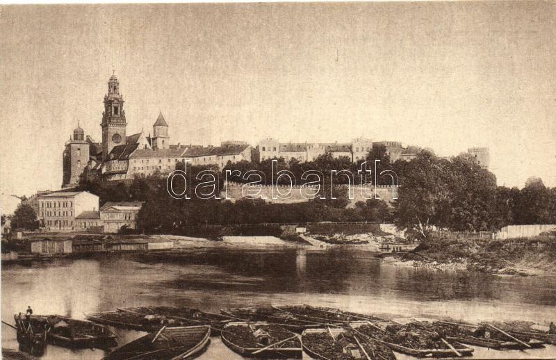 Kraków, Wawel Castle, Vistula, boats