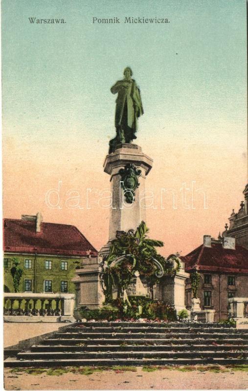 Warsaw, Warszawa; Pomnik Mickiewicza / statue