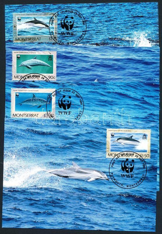 WWF dolphins set 4 CM, WWF delfinek sor 4 CM