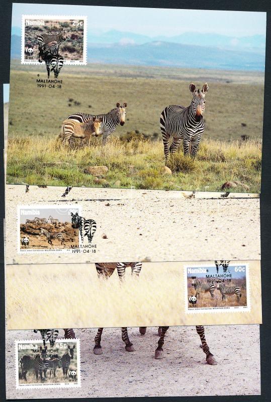 WWF Mountain Zebra set 4 CM, WWF hegyi zebra sor 4 CM