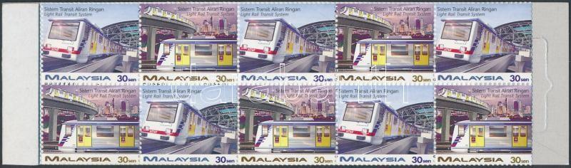 Opening of Light Rail Transit Systems in Kuala Lumpur stamp-booket, Light Rail Transit Systems megnyitása Kuala Lumpur-ban bélyegfüzet