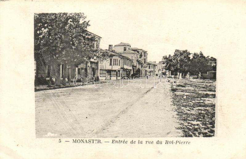 Bitola, Monastir; Entrée de la rue du Roi-Pierre / street entrance
