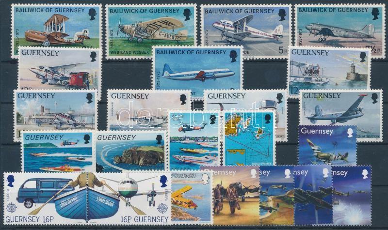 1973-2004 Airplane motive 3 sets + 8 stamps with pair, 1973-2004 Repülő motívum 3 db sor + 8 db bélyeg, közte pár