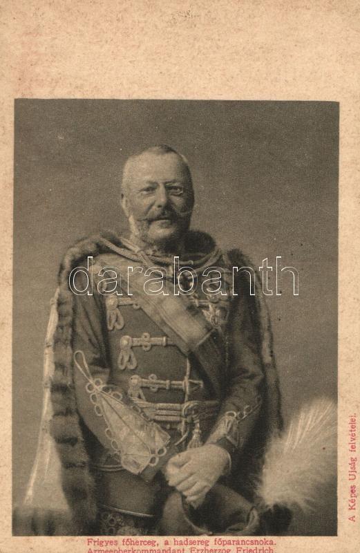 WWI military, Armeeoberkommandant Erzherzog Friedrich, Lysoform advertisement on backside, Frigyes főherceg, a hadsereg főparancsnoka, a Képes Újság felvétele; hátoldalán Lysoform reklám