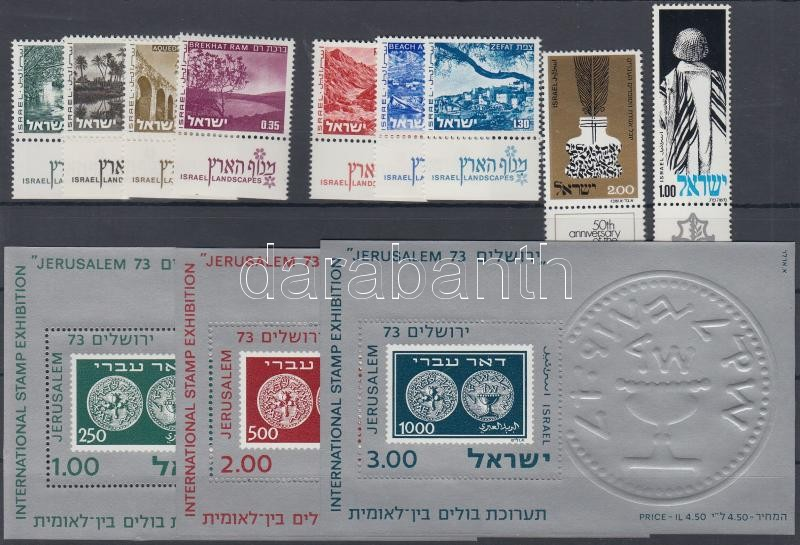 39 diff stamps with tab on 3 stockcards, 39 klf tabos bélyeg 3 db stecklapon