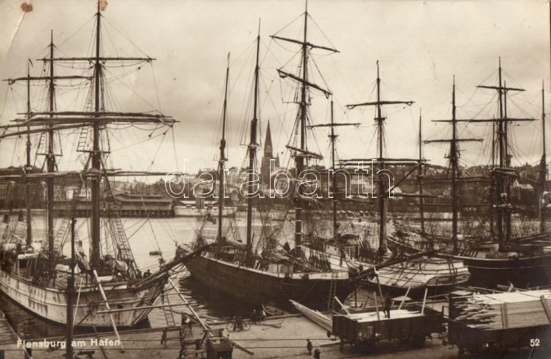 Flensburg, hafen / port, ships