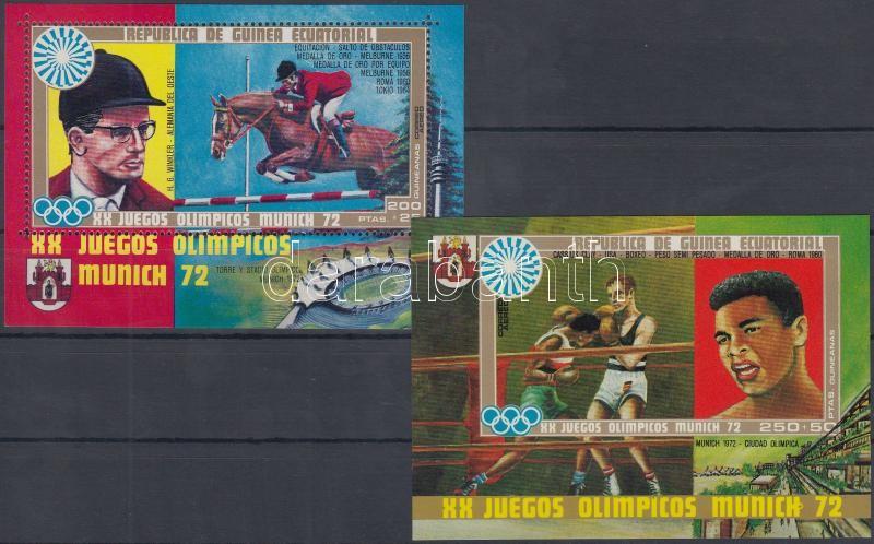 Summer Olympics, Munich (II) block set, Nyári olimpia, München (II) blokk sor