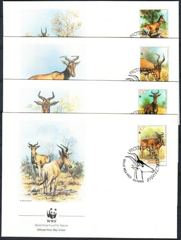 Red eland set 4 FDC, Vörös tehénantilop sor 4 FDC