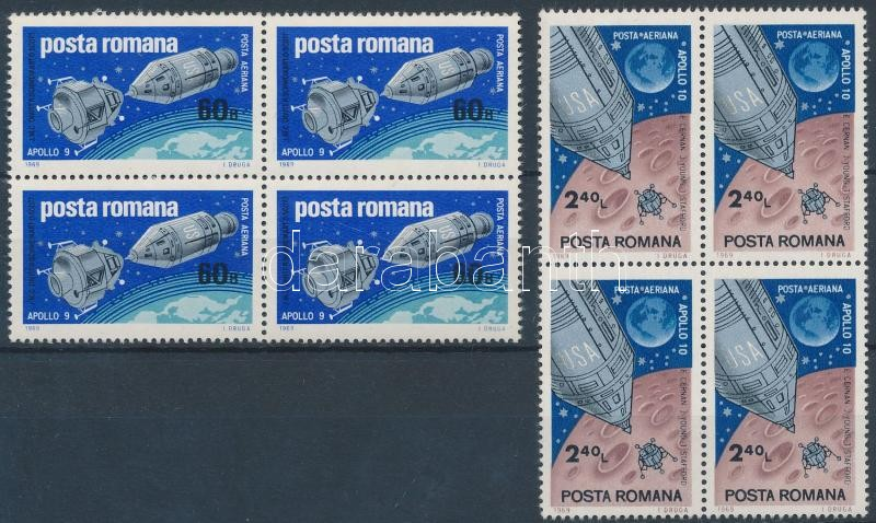 Apollo 9-10 set in blocks of 4, Apolló 9-10 sor 4-es tömb