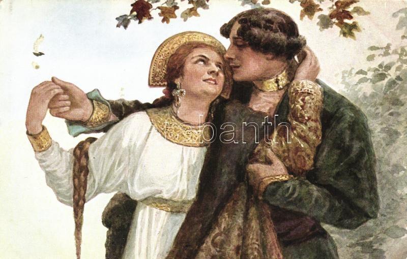 Selige Zeit / Russian folklore, romantic couple s: Solomko, Orosz folklór, romantikus pár s: Solomko