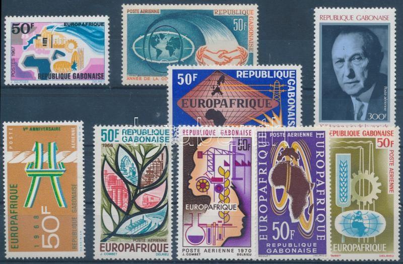 EUROPAFRIQUE, Konrad Adenauer 9 diff. stamps, EUROPAFRIQUE, Konrad Adenauer 9 klf bélyeg