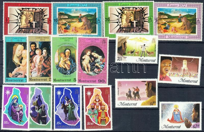 1972/1985 Religious holidays 4 diff. sets, 1972/1985 Vallási ünnepek 4 klf sor