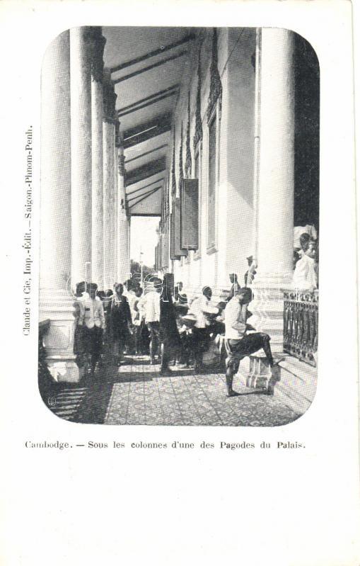 Phnompen, columns of Pagoda Palace