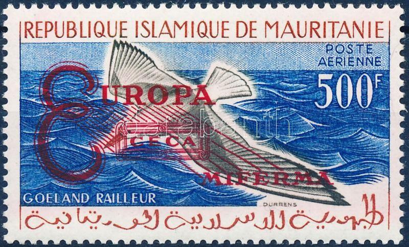 Economic cooperation stamp with red overprint, Gazdasági együttműködés bélyeg vörös felülnyomással