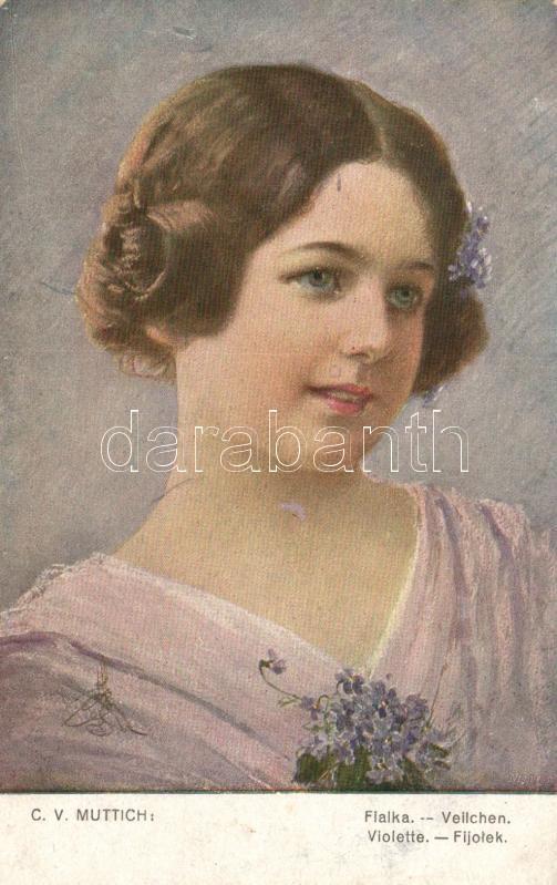 Violet lady s: C. V. Muttich, Ibolyás hölgy s: C. V. Muttich