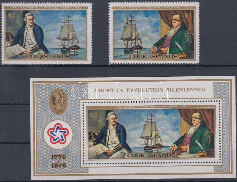 Bicentenary of United States independence set + block, 200 éve független az Egyesült Államok sor + blokk