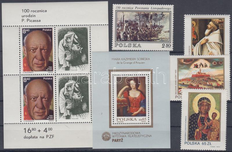1980-1982 Paintings stamp + set + 2 blocks, 1980-1982 Festmények bélyeg + sor + 2 blokk