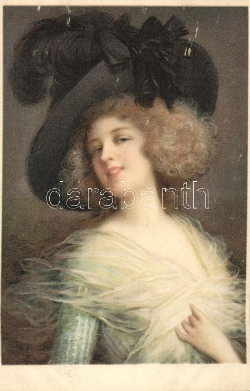 Lady with hat, M. Munk Nr. 1105., Kalapos hölgy, M. Munk Nr. 1105.