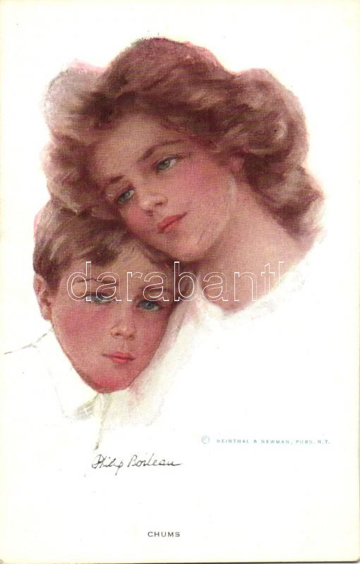 'Chums' Mother with son, published by Reinthal & Newman s: Philip Boileau, Anya a fiával, published by Reinthal & Newman s: Philip Boileau