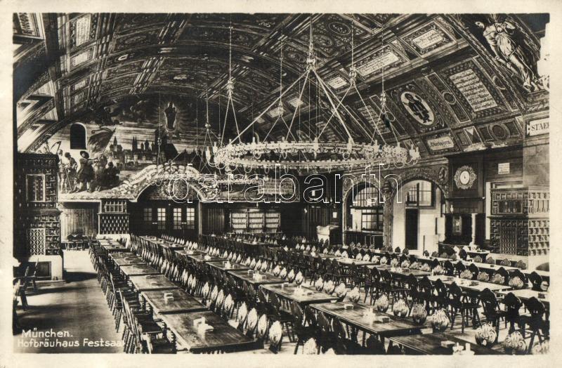 München, Hofbrauhaus Festsaal / beer hall, salon, interior