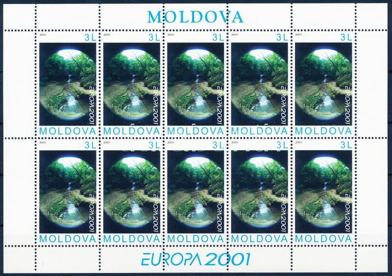 Europa CEPT Water, Source of life mini sheet, Europa CEPT víz, az élet forrása kisív