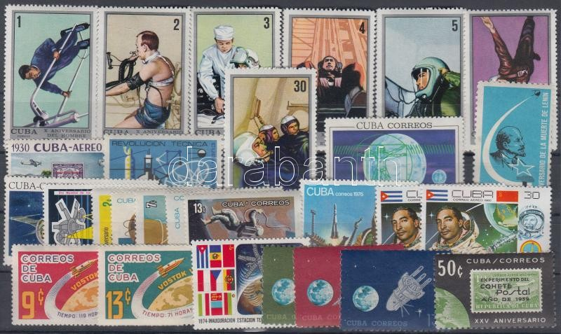 1960-1980 Space Research motive 28 stamps with sets, 1960-1980 Űrkutatás motívum 28 db bélyeg, közte sorok