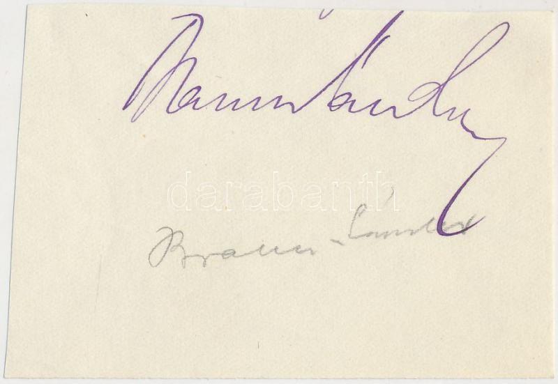 Braun Sándor (1866-1920) magyar újságíró aláírása