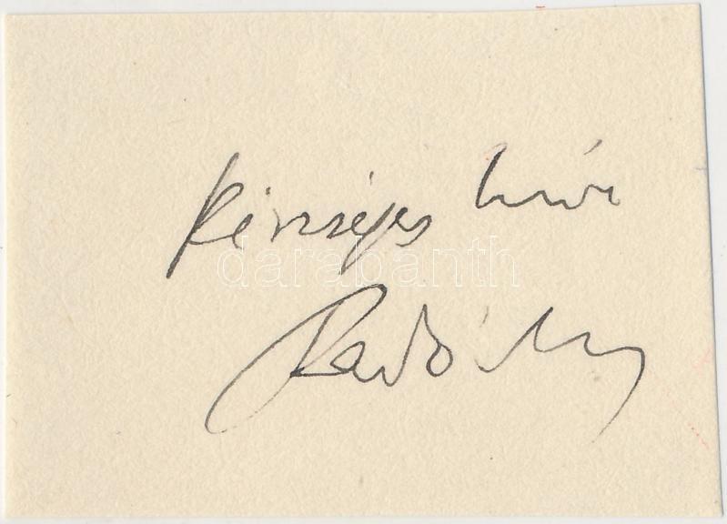 Fényes Imre (1917-1977) elméleti fizikus aláírása