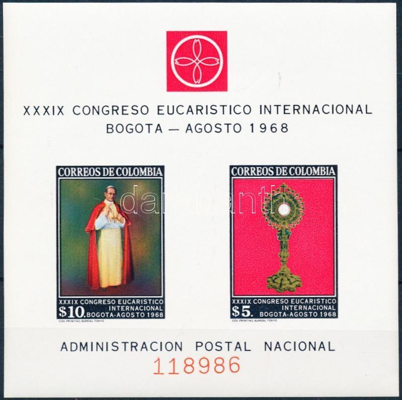 Eucharistic Congress set block of 4 + block, Eucharisztika kongresszus sor négyestömbökben + blokk