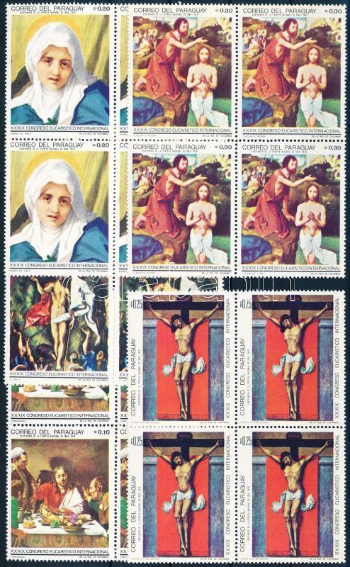 Paintings set in blocks of 4, Festmények sor négyestömbökben