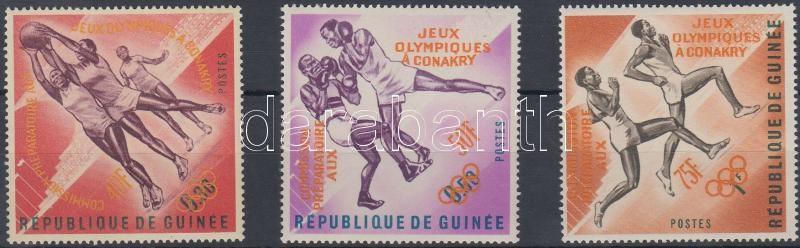 Olympic Games Organizing Committee set with orange overprint, Olimpiát Előkészítő Bizottság sor narancs felülnyomással