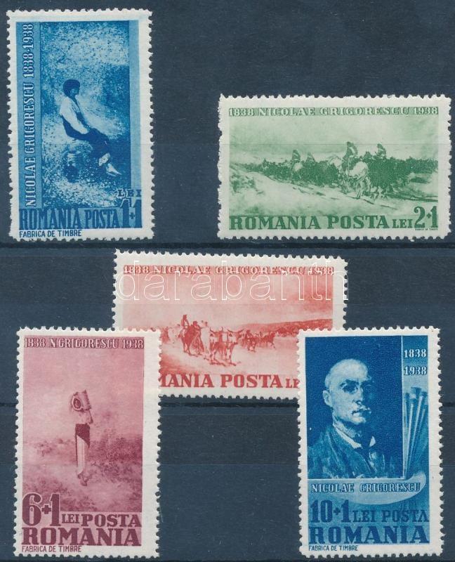 Birth centenary of Nicolae Ion Grigorescu: paintings set, 100 éve született Nicolae Ion Grigorescu: festmények sor