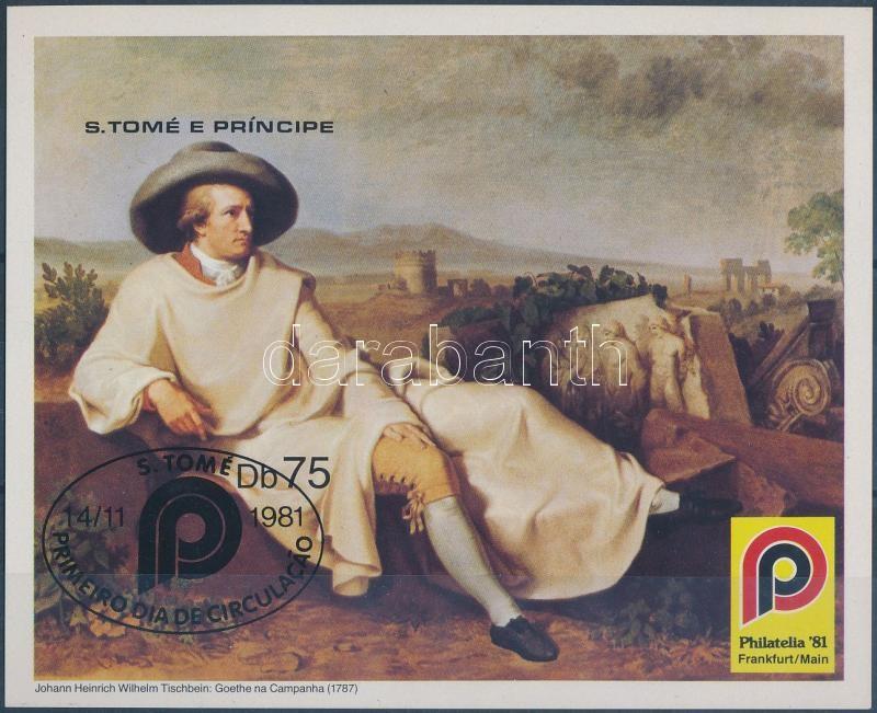 PHILATELIA International Stamp Fair imperforated block, PHILATELIA nemzetközi bélyegvásár vágott blokk