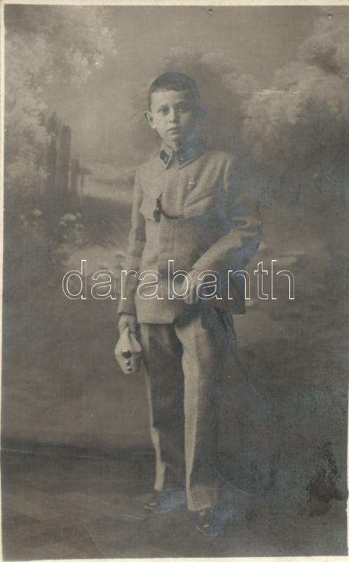 Hungarian soldier boy, photo (pinhole), Fiatal magyar katona, Ruzicska Gyula műterméből, Debrecen, fotó, (apró lyuk)
