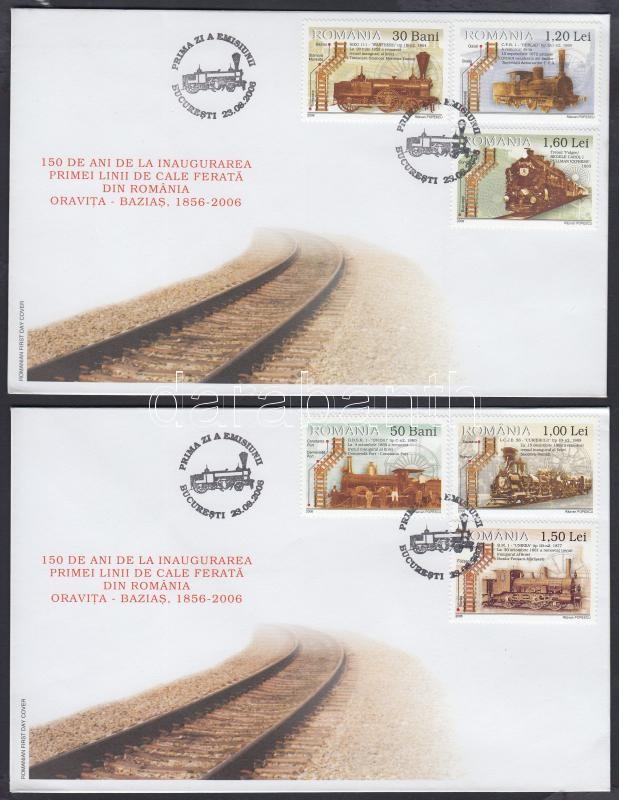 150th Anniversary of opening of the first Romanian railway steam locomotives set, Az első román vasútvonal megnyitásának 150. évfordulója: gőzmozdonyok sor 2 FDC
