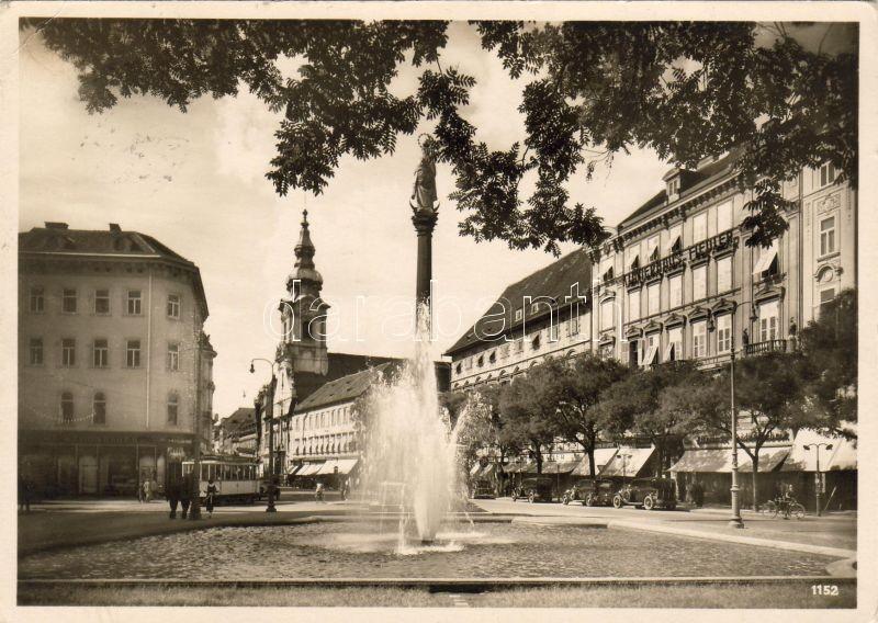 Graz Bismarck square, Fiedler piano shop, Graz Bismarckplatz, Fiedler zongorakereskedés, Graz Bismarckplatz, Klavierhaus Fiedler