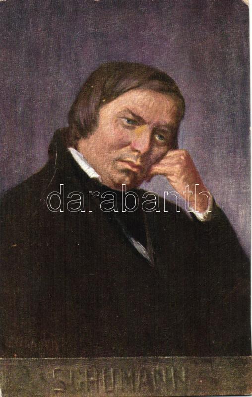 Schumann, B.K.W.I. Serie 874/2. artist signed, Schumann, B.K.W.I. Serie 874/2., művész aláírásával